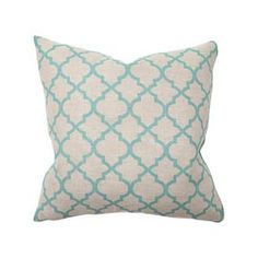 Have you noticed how hot robins egg blue, turquiose, and teal are? The best way to introduce new color into your drab room is definately through accent pillows!