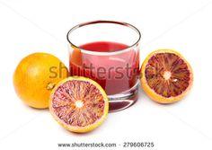 fresh and delicious orange juice over white - stock photo