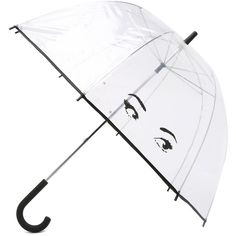 Kate Spade New York Eyes Umbrella (560 ARS) ❤ liked on Polyvore featuring accessories, umbrellas, kate spade, other, bubble umbrella, transparent bubble umbrella, kate spade umbrella and transparent umbrella
