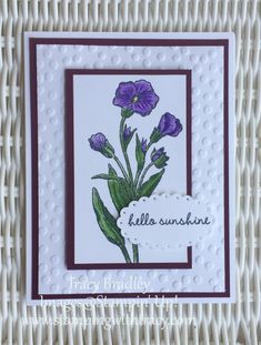 Handmade card using Stampin' Up! Butterfly Basics stamp set! by Tracy Bradley