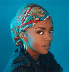 I like her head scarf the colours