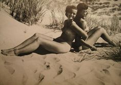 """Wartime, politically-approved National Socialist idealized female forms from the German nudism (""""nacktkultur"""") photography book series Geist und Schönheit (""""Spirit and Beauty"""", 1940). Presumably the frisson of lesbian content was tolerated, or perhaps simply enjoyed."""