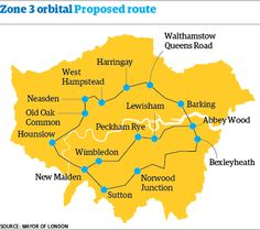 London orbital railway on mayor's wishlist