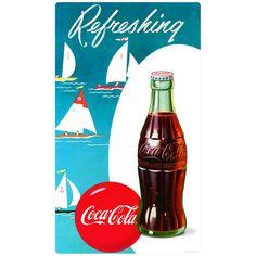 Coca-Cola Refreshing Sailboats Wall Decal | Coke Kitchen Decor | RetroPlanet.com