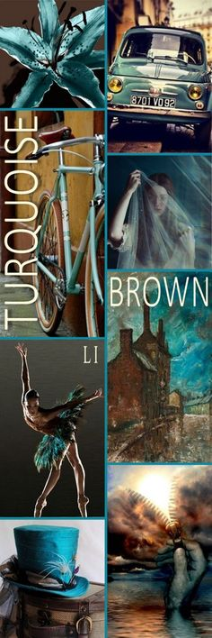 "Hi Ladies. Next let's pin this color board of "" TURQUOISE AND BROWN "" Thanks so much and Happy Pinning ❤"