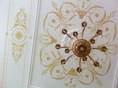 Альфрейная роспись потолка в гостиной Сорокин П.