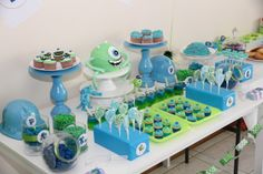Monsters Inc Party: I created this table for my son's 3rd birthday. He loved it!