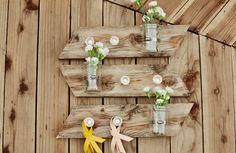 Mason jar wall decor...great for wedding, indoor or outdoor ...great potential