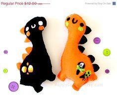 Halloween Dinosaur Plush  Cute  Kawaii  Seasonal by HappyCosmos, $10.20