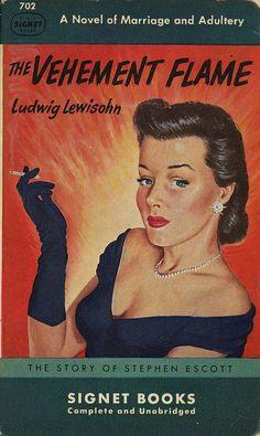 """The Vehement Flame"" | Vintage Pulp Fiction Paperback Book Cover Art"