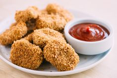 Getting kids to try new foods is simply an exercise in marketing. Case in point: When I made falafel for dinner one night, I called them chickpea nuggets instead of falafel and my children gobbled them right up. They asked for chickpea nuggets again and it got my mind churning with an idea for an actual chickpea nugget recipe — one with all the flavors and textures of chicken nuggets, but baked and egg-free. These chickpea nuggets look like chicken nuggets, but are vegan and require only six…