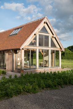 Since 1980 Border Oak have specialised in the design and construction of exceptional bespoke oak framed buildings across the UK and abroad Cottage Extension, House Extension Design, House Design, Barn House Conversion, Gable Window, Border Oak, Oak Framed Buildings, Oak Frame House, Barn House Plans