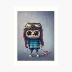 Cute Owl, Boy Art, Art Prints, Printed, Boys, Awesome, Illustration, Artist, Fictional Characters
