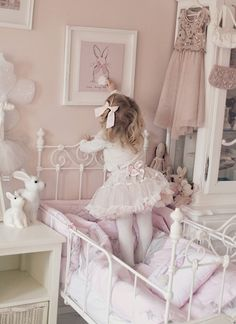 little girl's room with bunnies!