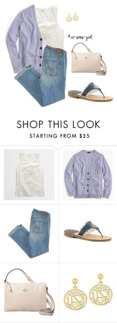 """""""Layering"""" by sc-prep-girl ❤ liked on Polyvore featuring J.Crew, American Eagle Outfitters, Jack Rogers, Kate Spade and QVC"""