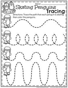Preschool Worksheets Winter Preschool Worksheets - Skating Penguins line tracing.Winter Preschool Worksheets - Skating Penguins line tracing. Preschool Themes, Preschool Lessons, Preschool Classroom, Preschool Learning, Kindergarten Worksheets, Daycare Curriculum, Preschool Education, Polar Animals Preschool Crafts, Preschool Readiness