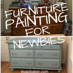 My First Time Painting Furniture – aka – If I Can Do It, Anyone Can! via lisajobaker.com