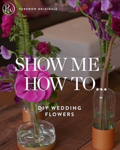 One great way to save $$$ on your wedding day? DIY your table arrangements! These bud vase beauties (c/o Jennifer Brisman Weddings New York events & Winston Flowers) are easy, inexpensive and totally swoon-worthy. #purewow #wedding #planning #flowers #centerpiece #decor #budget #tips #advice #hack