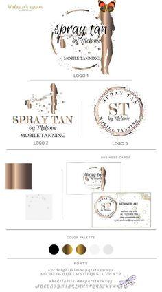 Spray Tan Logo Mobile Tanning Logo Logo design Gold Logo | Etsy 2 Logo, Logo Branding, Business Logo, Business Cards, Gold Logo, Party Items, Printed Materials, Brand Packaging, Custom Logos