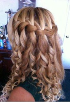 Curly hair braids wedding - Google Search