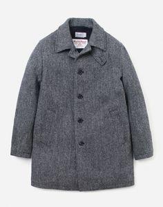 커버낫(COVERNAT) 15 A/W HARRISTWEED MAC COAT (맥코트) GREY - 348,000원 | 무신사 스토어