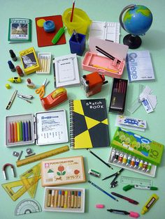 Miniature school supplies