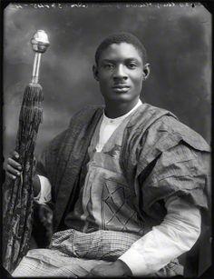Sir Adeniji-Adele II, Oba of Lagos, 1920, by Bassano