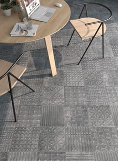 Porcelain tiles range Lithos in size, is a porcelain tile with stones like finish. Interior Photo, Porcelain Tile, Tiles, Flooring, Stone, Rugs, Home Decor, Collection, Room Tiles