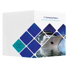 Cruise Ship Adventure Presentation Folder Template Front And Back View Folderdesigns Presentationfolders