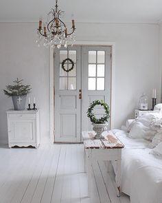 White & stylishly shabby....tasteful & graceful