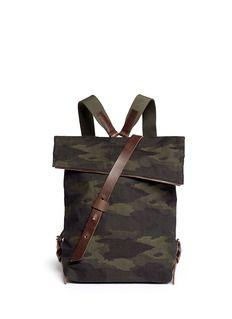 SEVENTY EIGHT PERCENT'Jurgen' camouflage canvas backpack