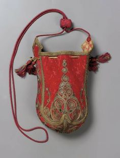 Bag - Balkan or Near Eastern, 19th century, embroidered wool