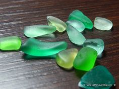 12 pcs of  Italian Genuine small Sea Glass Mix from by LaPerLAAsea