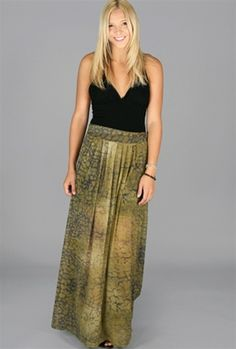 Our theory is that this skirt is amazing. A tonal watercolor print is worked into the long maxi and with its lightweight and mesh material this piece is both fashionable and interesting. The evil twin crackpot theory mesh maxi skirt can be dressed up with some tall heels and delicate top or worn with tough boots and sweater for a casual mix of styles.