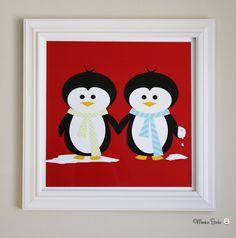 Penguins Nursery Art Print. $24.95, via Etsy.