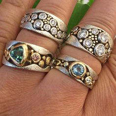 Take a closer look at Rona's Custom Rings #weddingrings #weddingbands #customjewelry