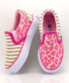 Take a look at this Pink & Tan Tabby Slip-On Sneaker - Kids by XOLO Shoes on #zulily today!