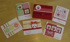 "I made a set of cards and a box to keep them in for my mom for her birthday. Thanks to superjen for the idea! The cards were inspired by several other cards posted in the Tart & Tangy gallery so if you recognize anything about them - thank you for sharing your creativity and allowing me to case it!  The Kraft, Green Galore, Yo-yo Yellow, Barely Banana and Only Orange cardstock are from Wish-RAK. Also, the ""Celebrating You"" and ""One of a Kind"" sentiments are stamped with a set I recieved from…"