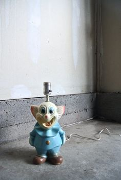 15% OFF  Creepy Vintage Clown Chalkware Lamp  by ThEeRabbitHole