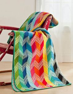 This quilt totally reminds me of the colorful sugar candy it's named after. The pattern is available in this magazine.