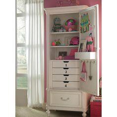 Universal 'Gabriella' Armoire Beautiful way to help keep their room organized.