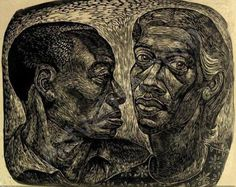 """Man and woman"" by Charles White He masters all the elements of expression. Not only is he sculptural but so compassionate and so playful with light and surface. Truly admirable ! (Pharyah)"