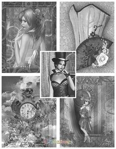 Steampunk Adult Coloring Book  by Tabz Jones Steampunk is a wonderfully fanciful alternative genre that brings together elements of the Goth, Industrial, and Victoriana subcultures in a way that makes all three accessible and FUN. It's an expression of the love of all things vintage and the creativity to bring your inventions to life. All thirty of the highly detailed grayscale coloring pages you will find inside this book feature the fantasy artwork of Tabz Jones.