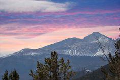 Lovely Rock Mountain National Park above Estes Park