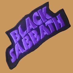 BLACK SABBATH Band Logo SMALL PATCH Band Patches, Pin And Patches, Battle Jacket, Extraordinary People, Band Logos, Black Sabbath, Black Metal, Gothic, Shell