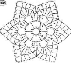 Crochet Table Runner Pattern, Crochet Snowflake Pattern, Crochet Motif Patterns, Crochet Symbols, Crochet Flower Tutorial, Crochet Stars, Crochet Circles, Granny Square Crochet Pattern, Crochet Mandala