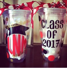 Graduation Tumblers by Brianagrams on Etsy https://www.etsy.com/listing/292838683/graduation-tumblers