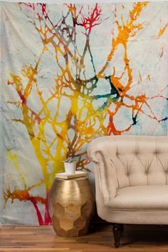 watercolor branches #tapestry
