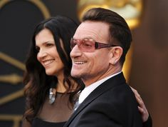 "BONO U2's frontman and his wife, Ali Hewson, met as students in Dublin back in the '70s and tied the knot in 1982. ""I'm a bit of a stray dog,"" Bono wrote in the 2005 book ""U2 by U2."" ""I would not have been in the queue to get married, had I not met someone as extraordinary as Ali. I always felt more myself with her than with anybody."""