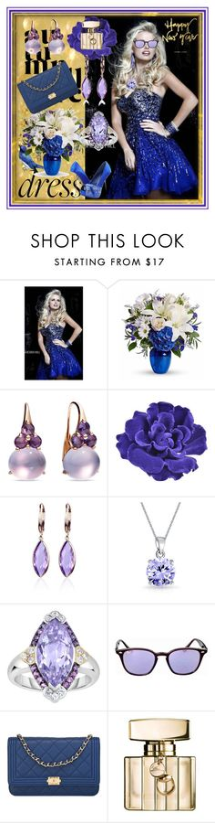 """""""set 140"""" by nudzi-ded ❤ liked on Polyvore featuring Sherri Hill, Pomellato, Chanel, Belk & Co., Bling Jewelry, Phillip Gavriel, Ray-Ban and Gucci"""